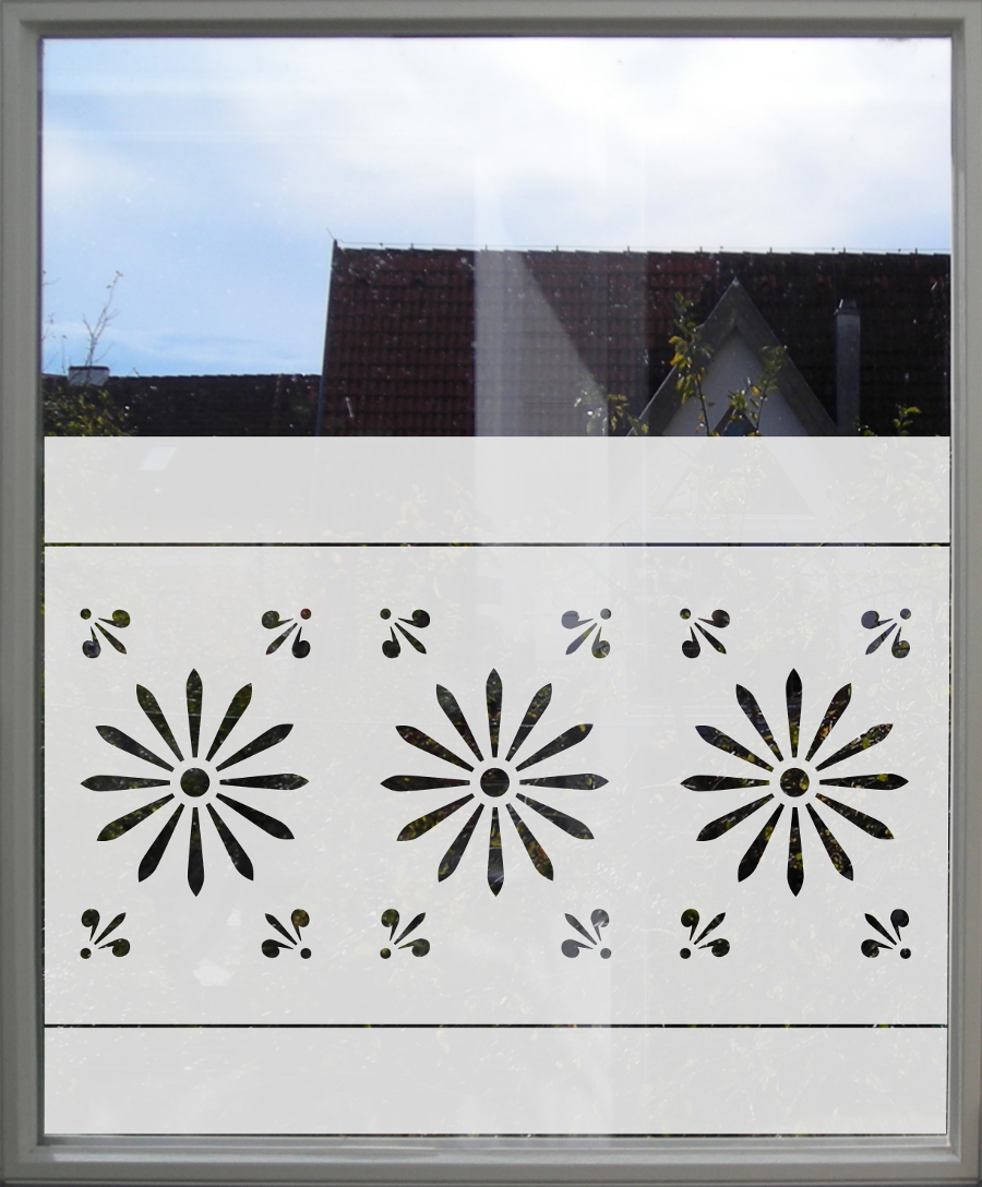 Geometrische Fensterfolie