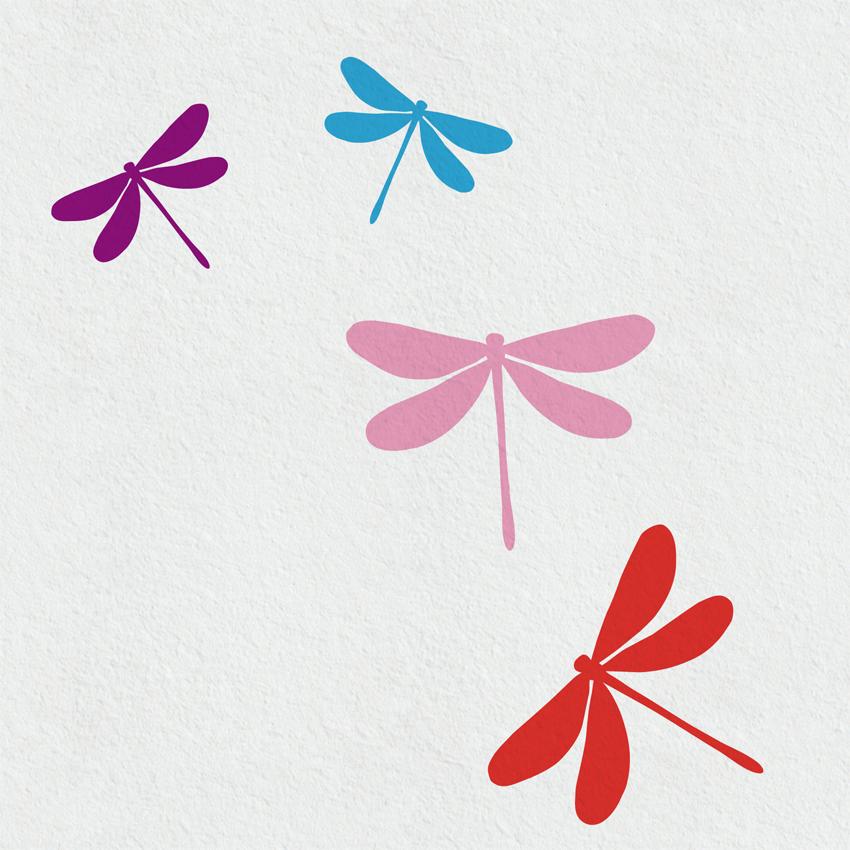 Wandtattoo Libellen
