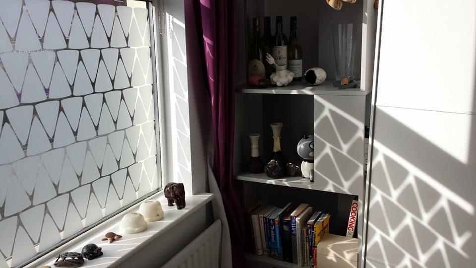 Fenstertattoo Dreiecke Sichtschutz abstrakt