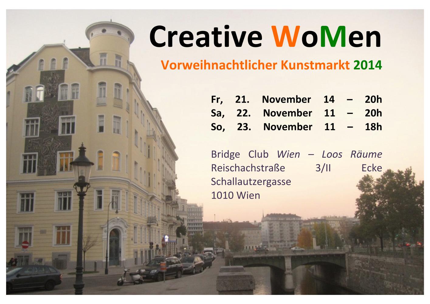 Vorweihnachtlicher Kunstmarkt im Bridge Club Wien, Loosräume