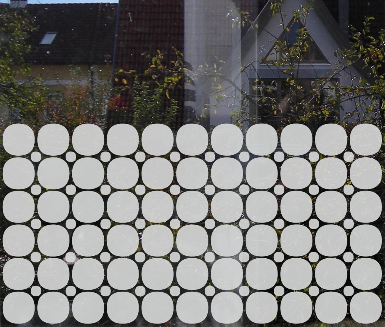 Fensteraufkleber geometrisch Glasdekorfolie
