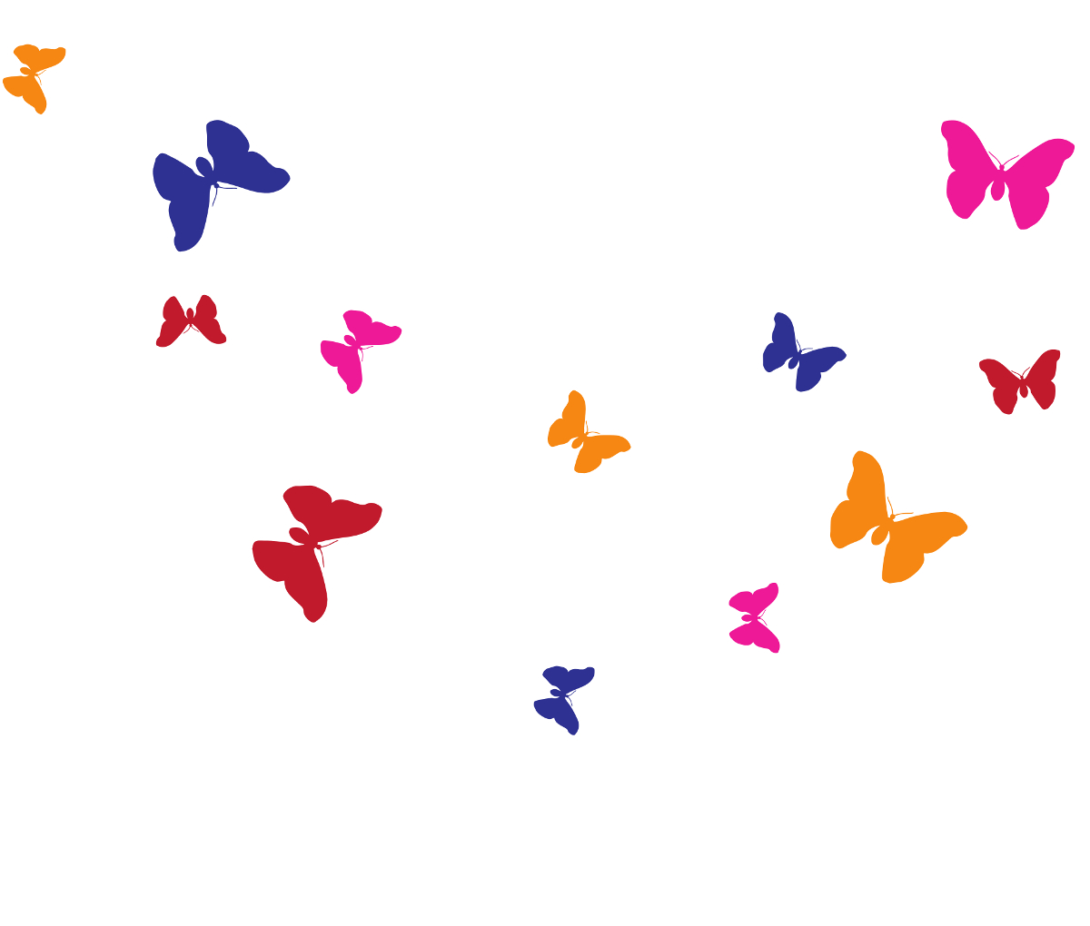 Schmetterlinge bunt Wandtattoos