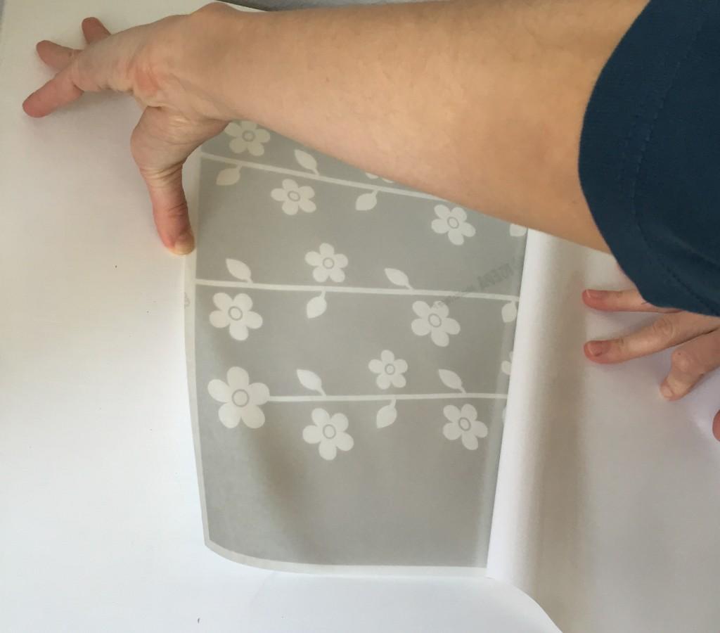 trägerpapier abziehen