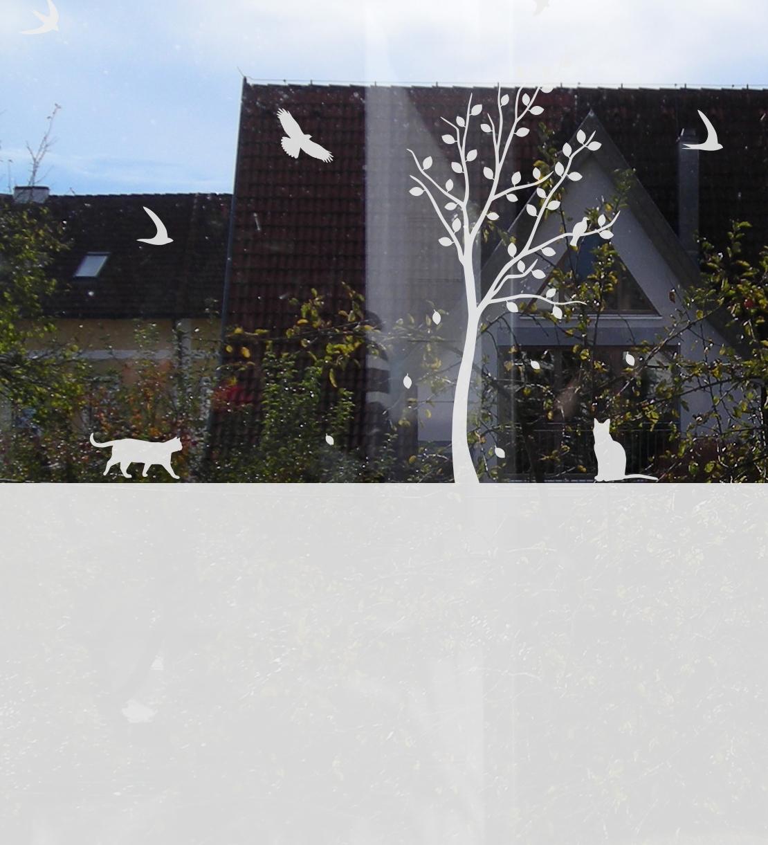 dekorative sichtschutz folie mit tieren