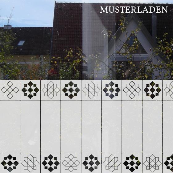 Sichtschutz und Dekoration für Glas Musterladen