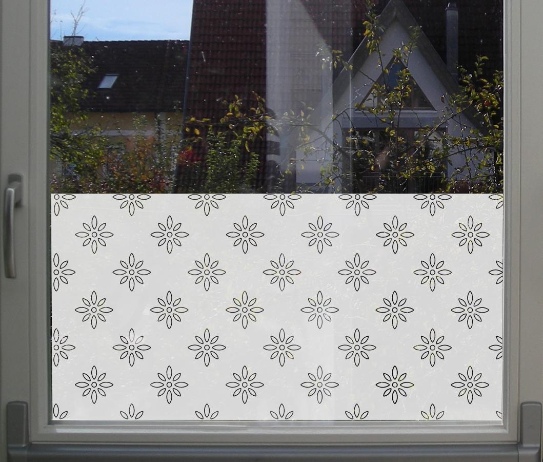 Florale Sichtschutzfolie