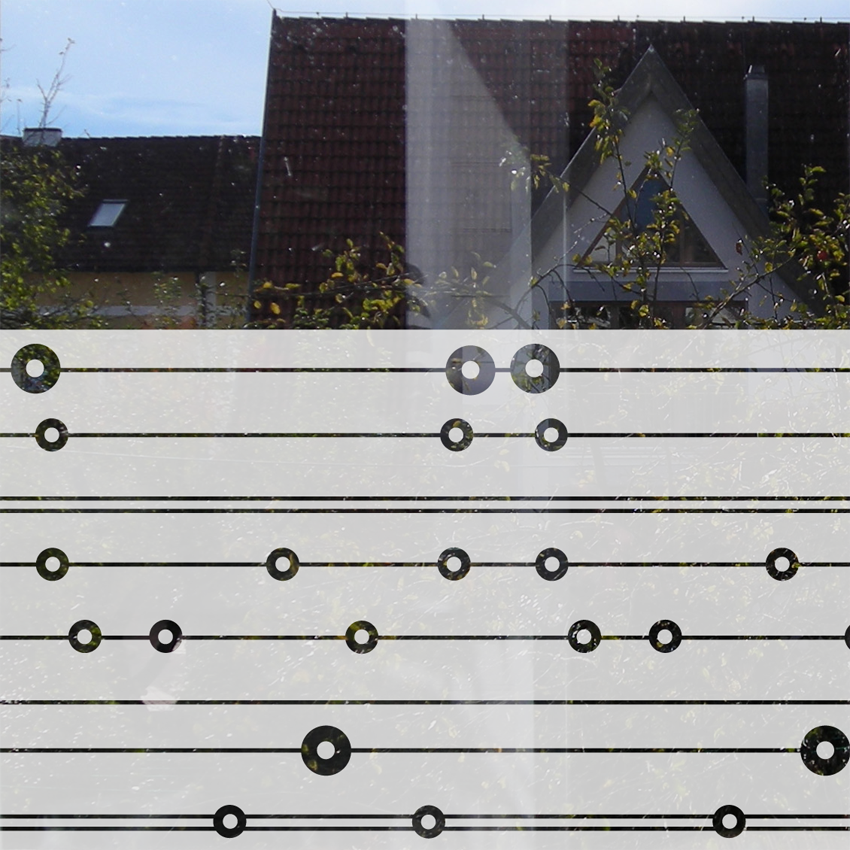 Fenstertattoo Kreise und Linien