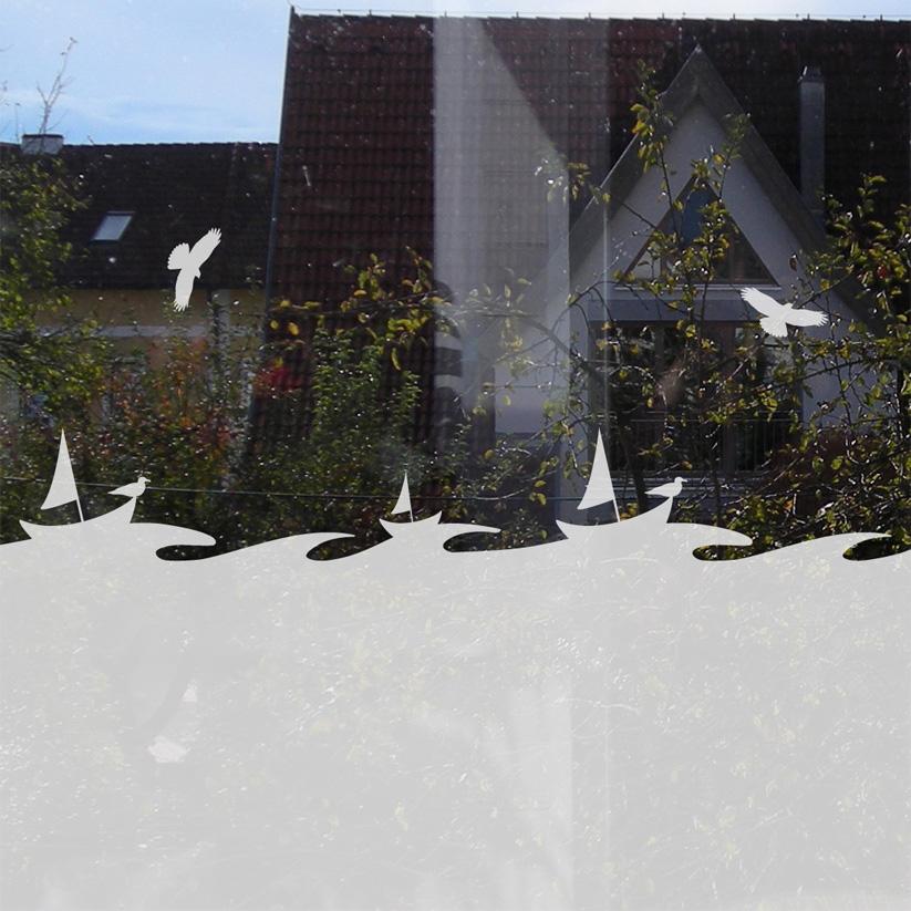 Fensteraufkleber Boote