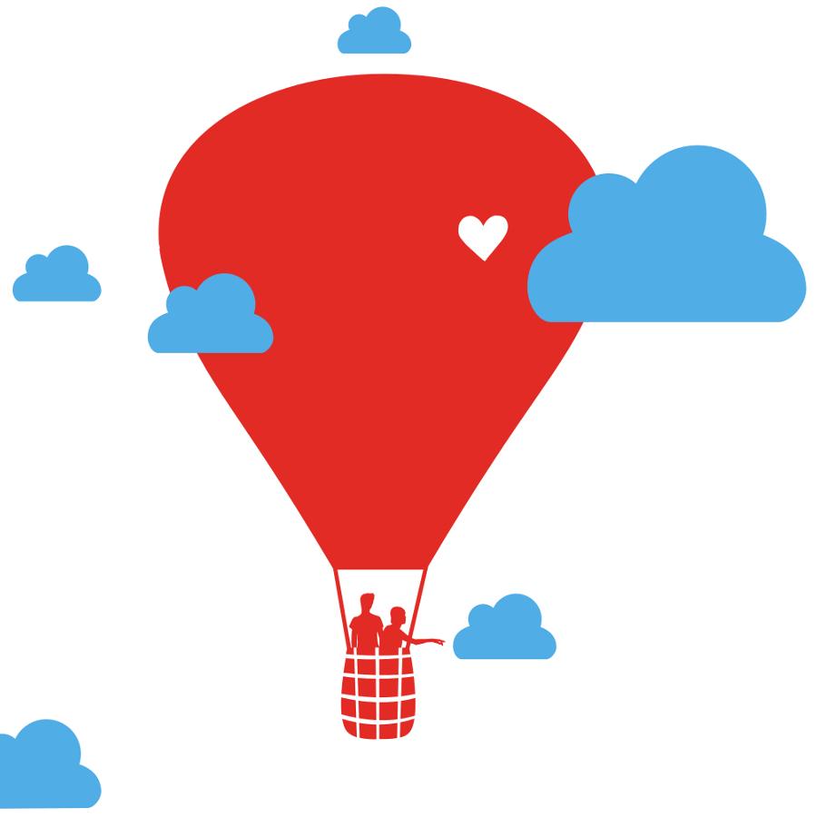 Heißluftballon Wandaufkleber