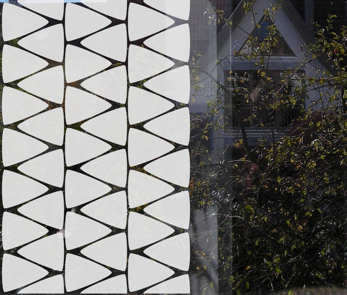 Sichtschutzfolie Dreiecke