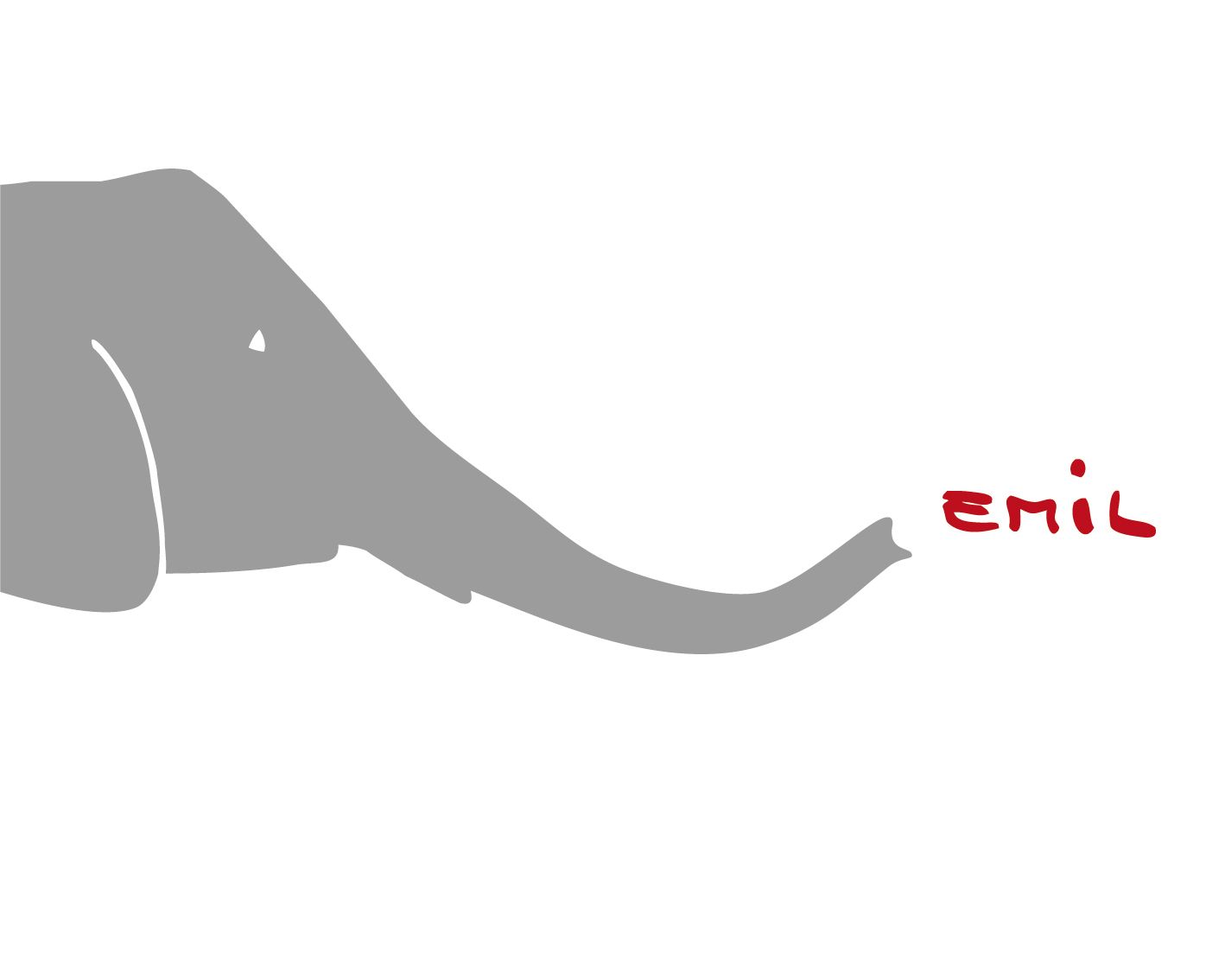 Elefant Name Wandtattoo