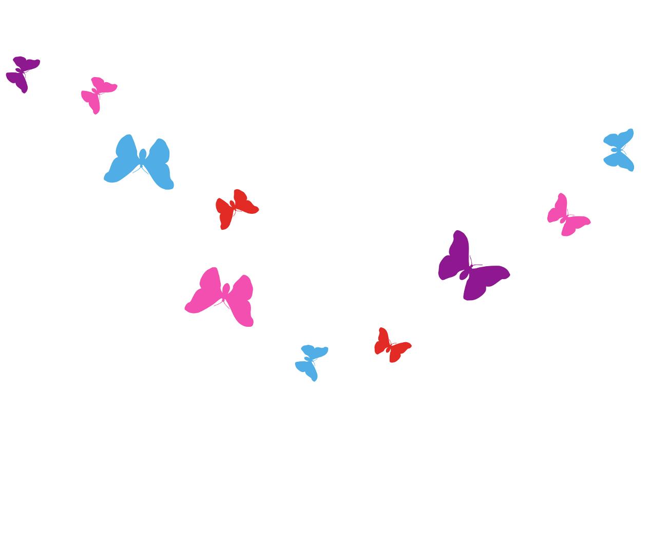 bunte Schmetterlinge Wandtattoos