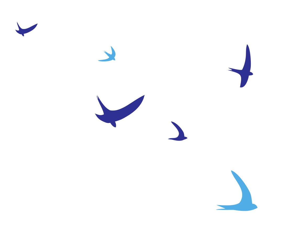 Vögel fliegend Wandtattoos