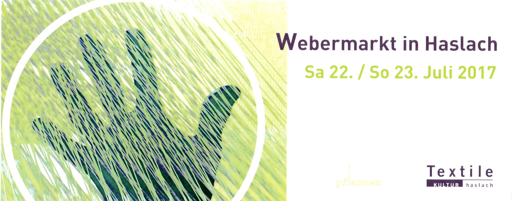 Webermarkt in Haslach Wohnaccessoires aus Baumwollseil Caroline Rager
