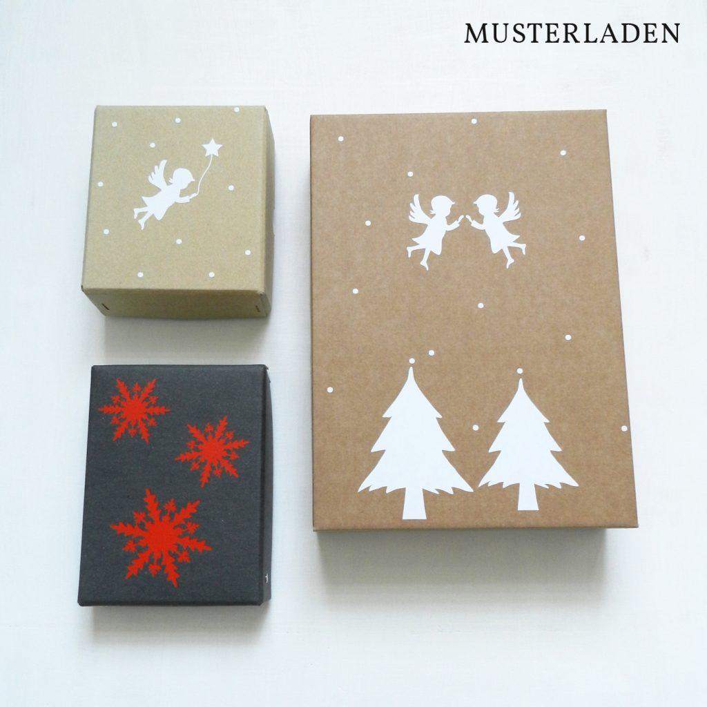 Weihnachtliche Geschenkverpackung Musterladen
