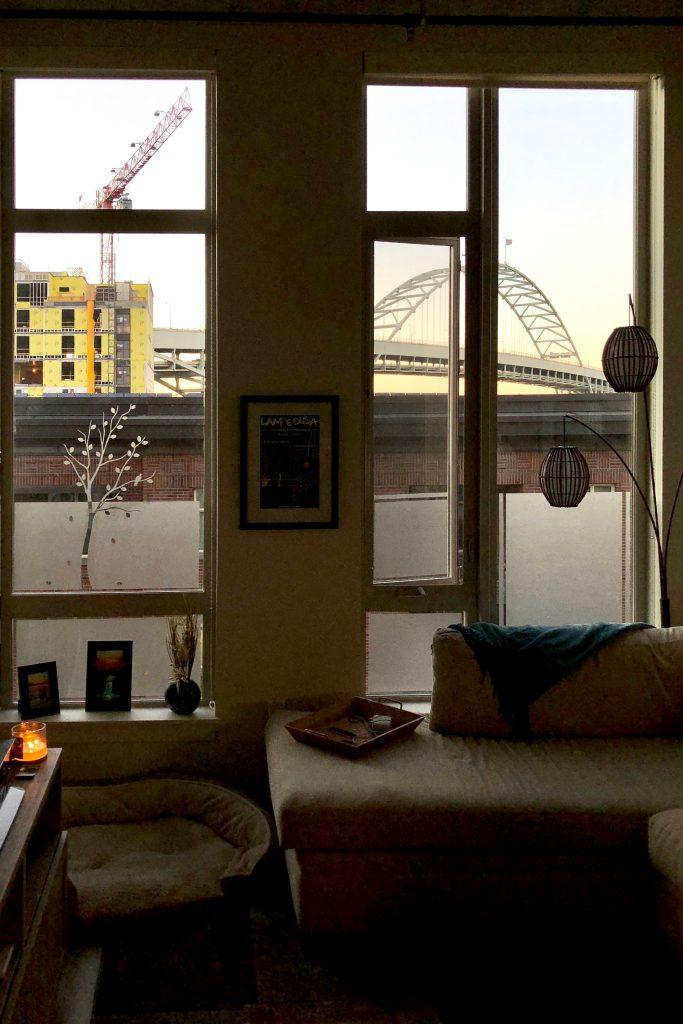 Blickschutz Wohnzimmer Fensterfolie Baum Musterladen