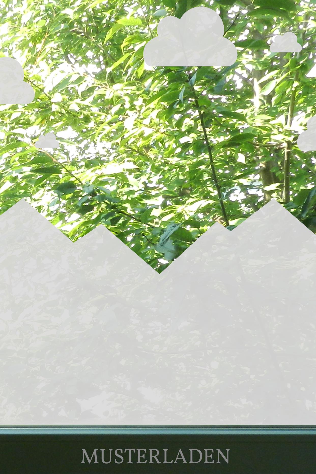 Fensterfolien Motive Berge und Wolken - Musterladen