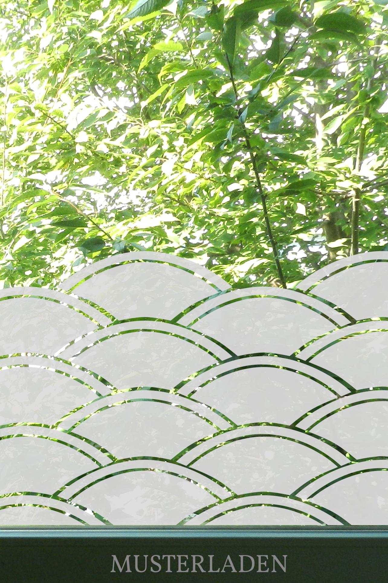 Fensterdeko und Sichtschutz geometrisch - Musterladen