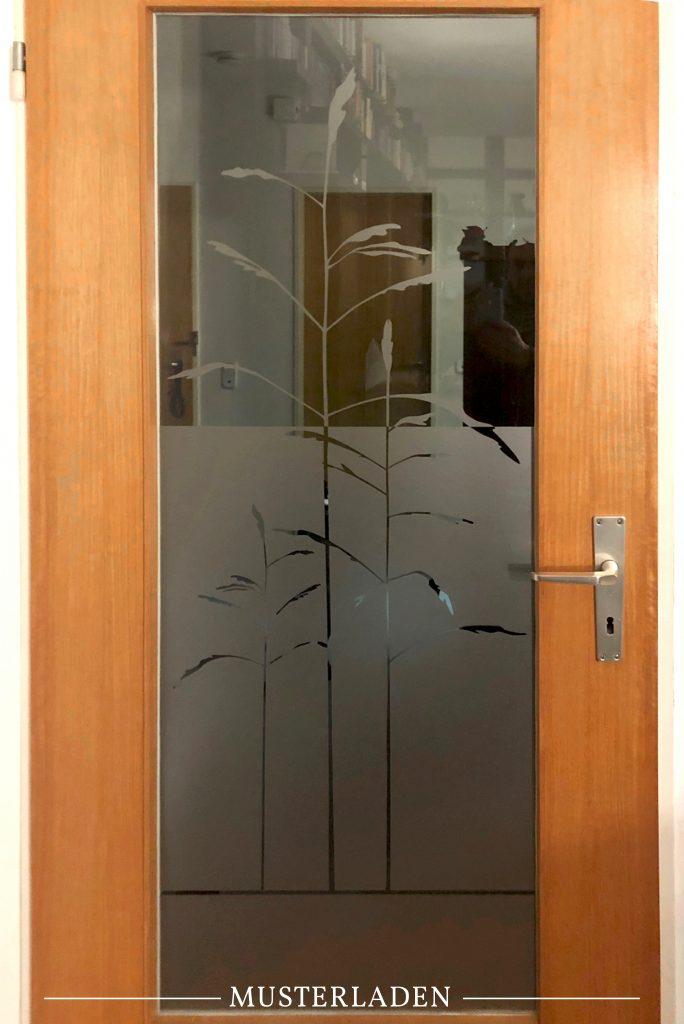 dekorativer Sichtschutz für Glastüren - Musterladen