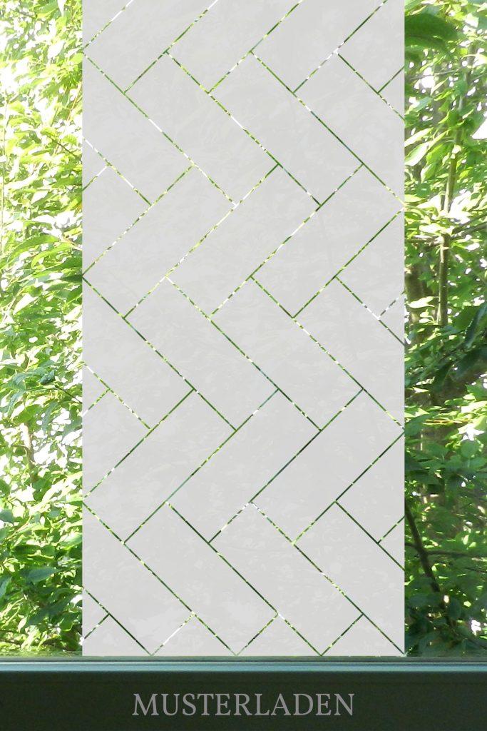 Sichtschutz Folie Fischgrät Muster - Musterladen