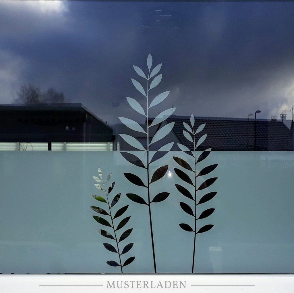 dekorativer Sichtschutz mit Fensterfolien - Musterladen