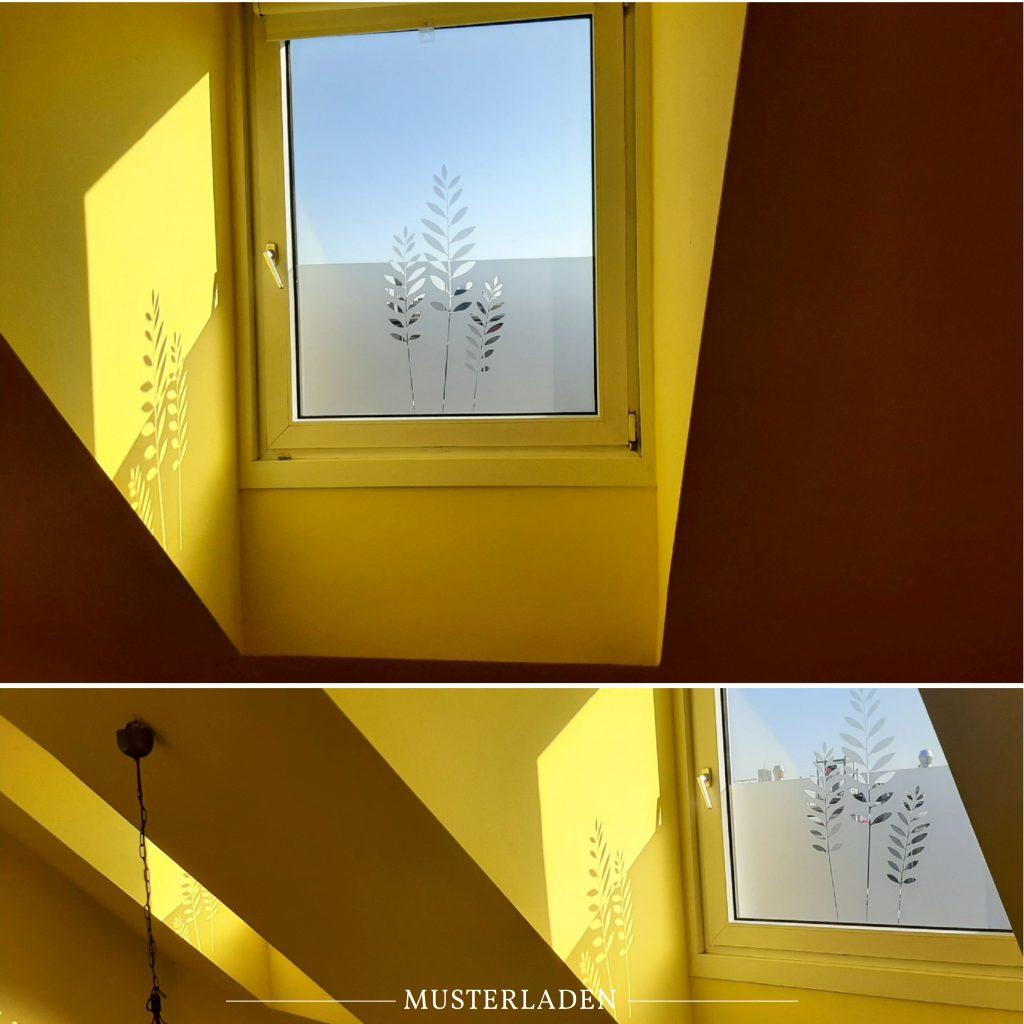 Dekorative Folien für Fenster- Musterladen
