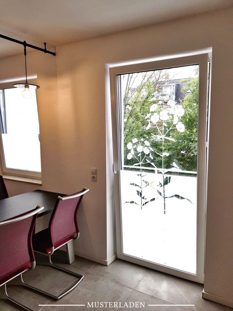 Fenster Sichtschutz Folie Blumenmotiv