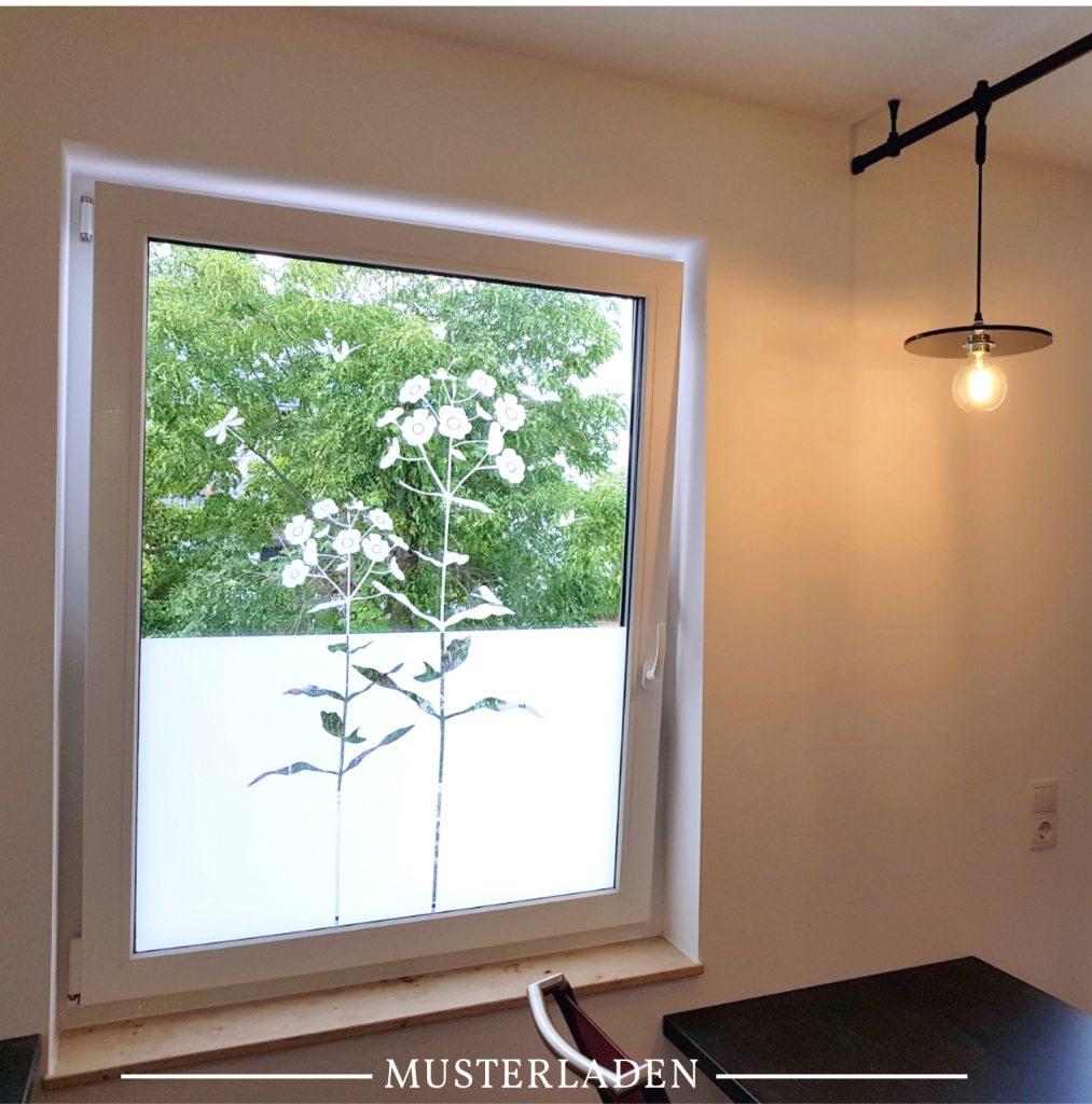 Fenster Sichtschutz Folie Blumenmotiv - Musterladen