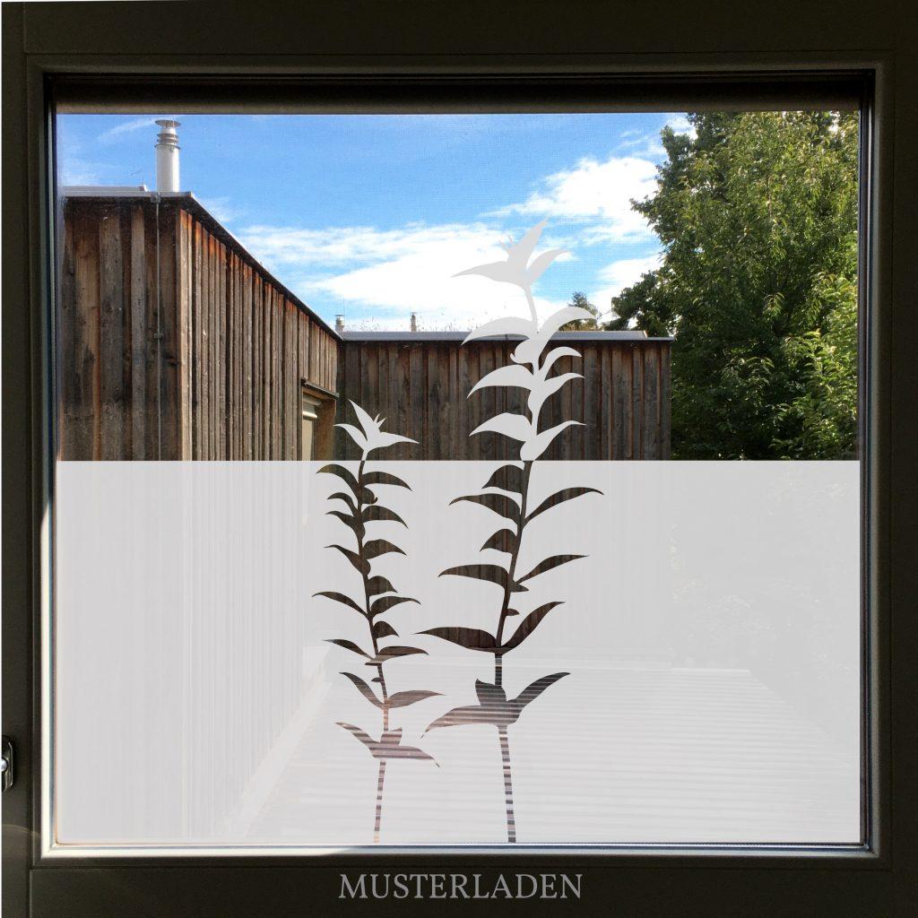 Fensterfolien Motive aus Glasdekorfolie Blaetter