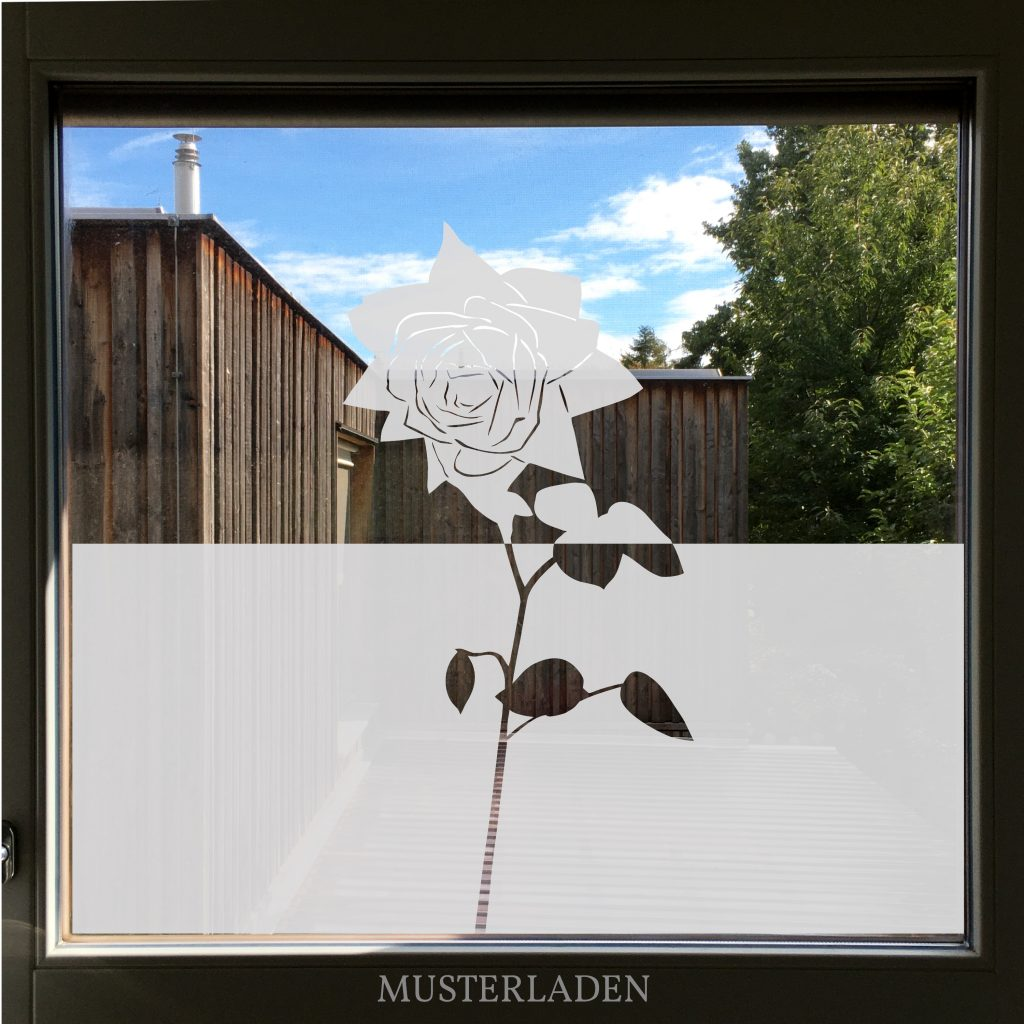 Fensterfolien Motive aus Glasdekorfolie Rose