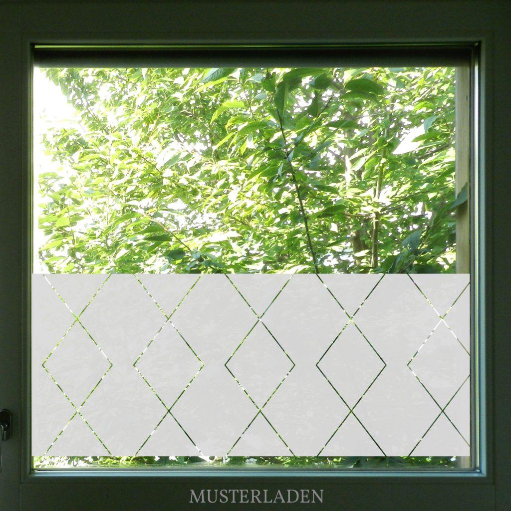 Geometrischer Fensterfolien Sichtschutz - Musterladen