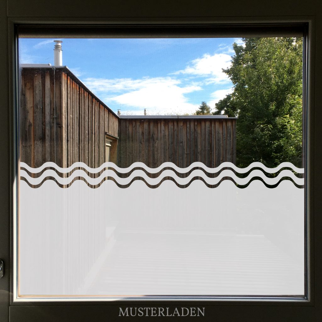 Dekorativer Sichtschutz aus Milchglasfolien maritim- Musterladen